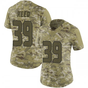 Women's Kalan Reed Seattle Seahawks Limited Camo 2018 Salute to Service Jersey