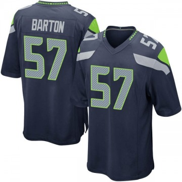 Youth Cody Barton Seattle Seahawks Game Navy Team Color Jersey