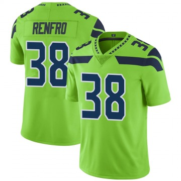 Youth Debione Renfro Seattle Seahawks Limited Green Color Rush Neon Jersey