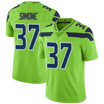 Youth Jordan Simone Seattle Seahawks Limited Green Color Rush Neon Jersey