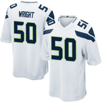 Youth K.J. Wright Seattle Seahawks Game White Jersey