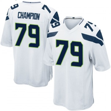 Youth Tommy Champion Seattle Seahawks Game White Jersey