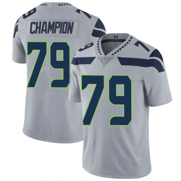 Youth Tommy Champion Seattle Seahawks Limited Gray Alternate Vapor Untouchable Jersey